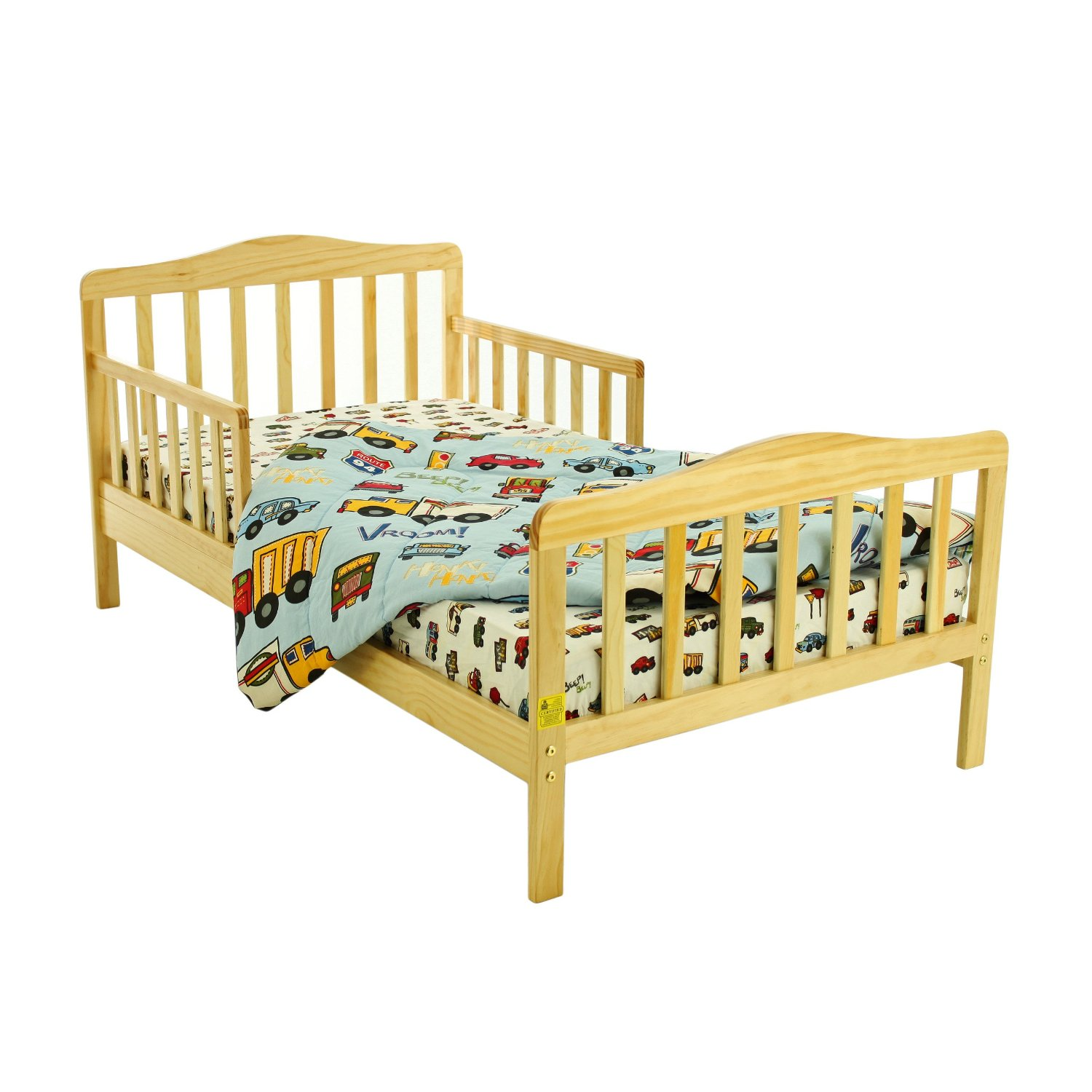 Toddler Bed with Linens